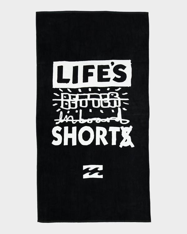 0 LIFES SHORT TOWEL Black 9672706P Billabong