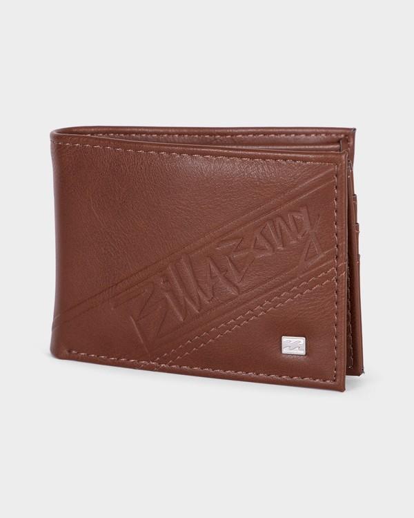 0 LINEUP FLIP WALLET Brown 9682194 Billabong