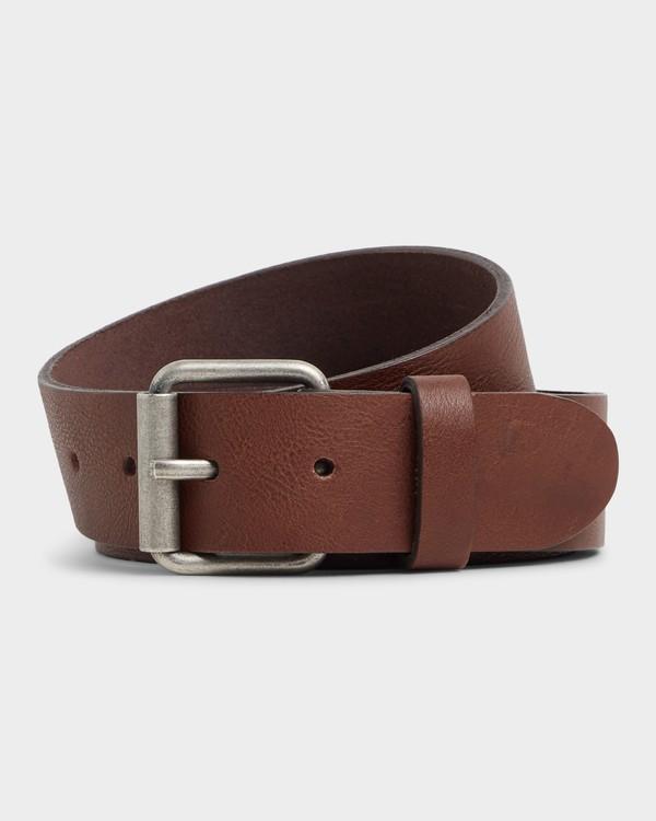 0 Stringer Leather Belt Green 9695650 Billabong