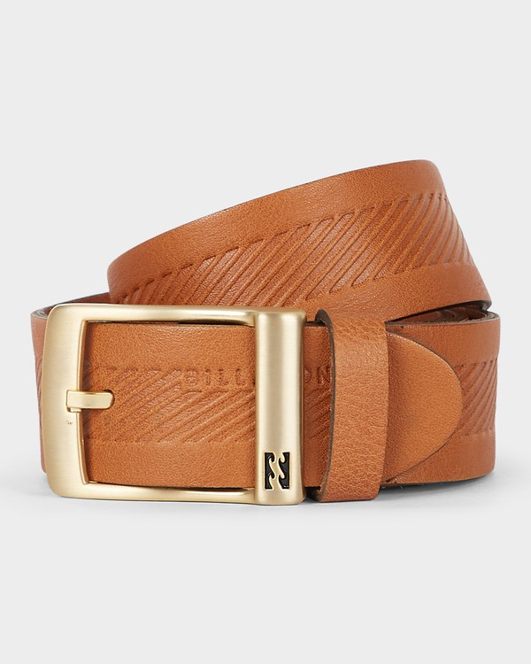 0 HELMSMAN LEATHER BELT Beige 9695652 Billabong