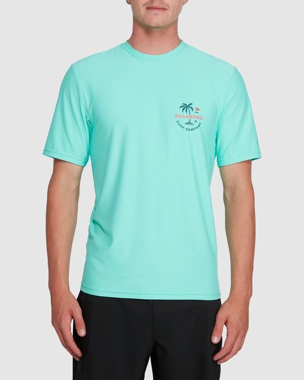 0 Vacation Loose Fit Short Sleeve Rash Vest Blue 9703500 Billabong