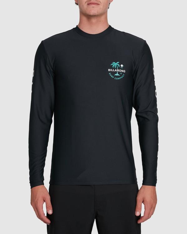 0 Vacation Loose Fit Long Sleeve Rash Vest Black 9703507 Billabong