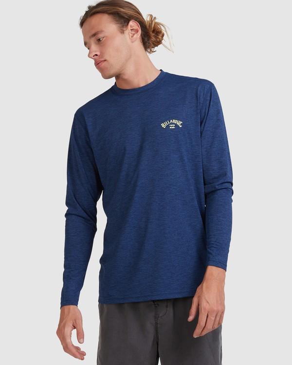 0 Shoreline Loose Fit Long Sleeve Rash Vest Blue 9703512 Billabong