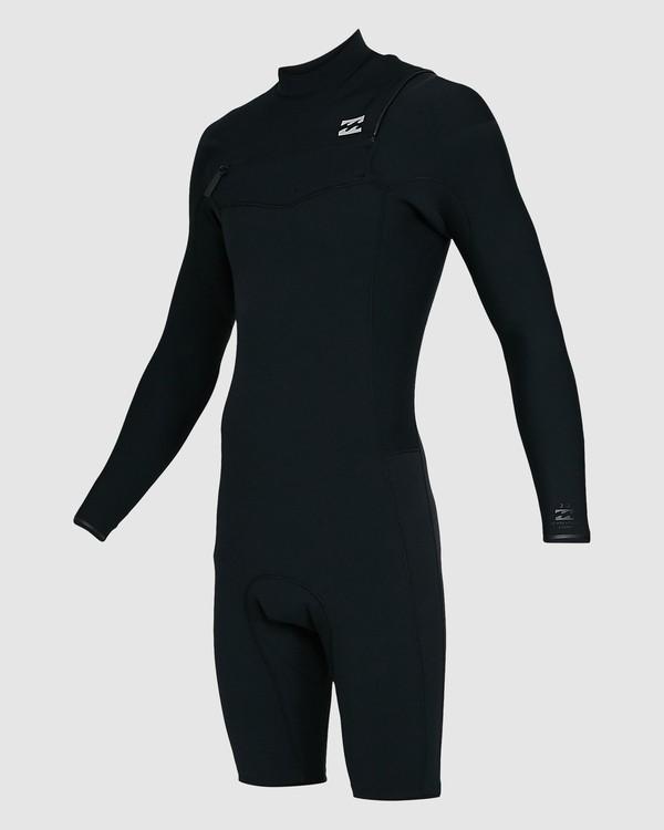 0 202 Revolution Comp Chest Zip Long Sleeve Springsuit Black 9703590 Billabong