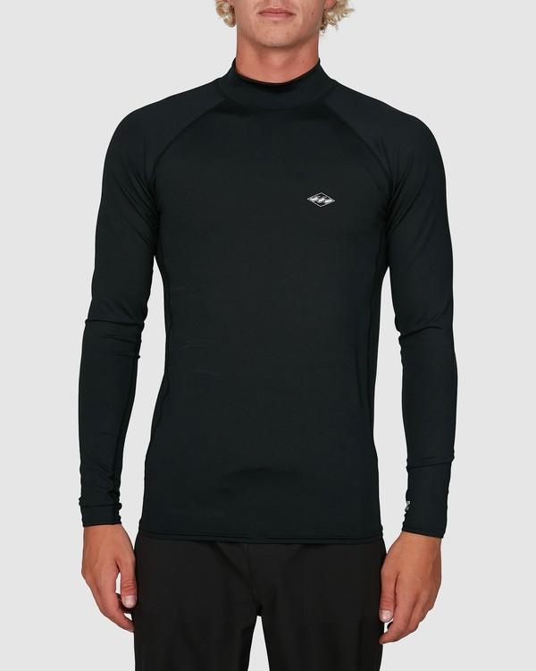 0 Contrast Performance Fit Long Sleeve Rash Vest Grey 9704512 Billabong