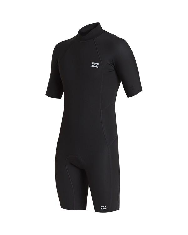0 202 Absolute Fl Back Zip Short Sleeve Springsuit Black 9707400 Billabong