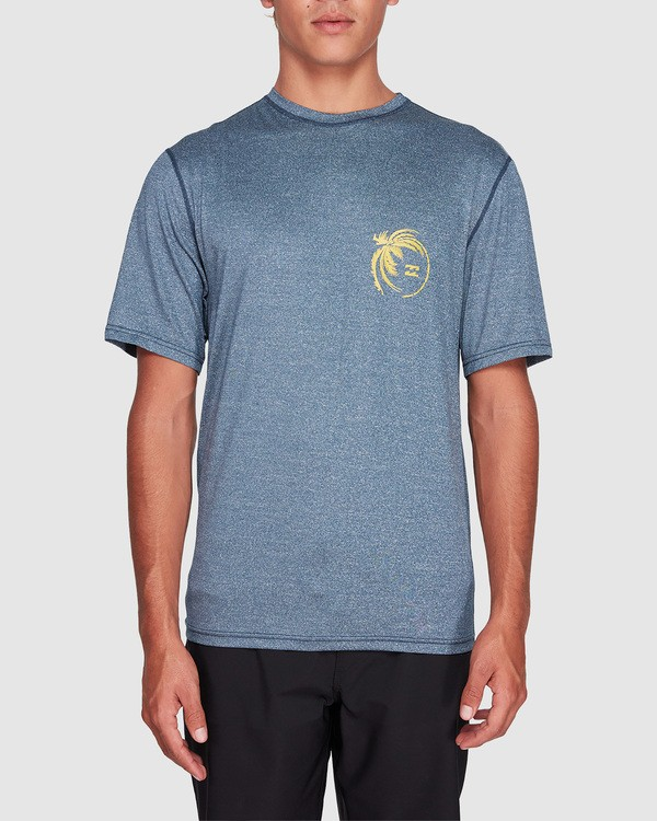 0 Storm Fl Short Sleeve Rashie Blue 9707506 Billabong