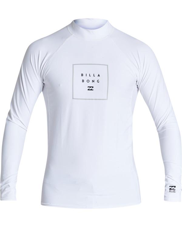 0 Stacked Long Sleeve Performance Fit Rashie White 9707516 Billabong