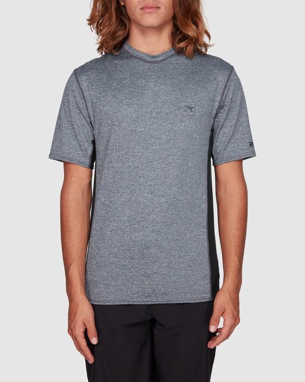 0 Arch Mesh Loose Fit Short Sleeve Rash Vest Grey 9707518 Billabong