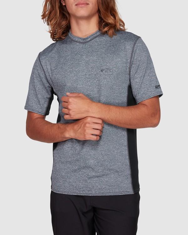 0 Arch Mesh Loose Fit Short Sleeve Rashie Grey 9707518 Billabong