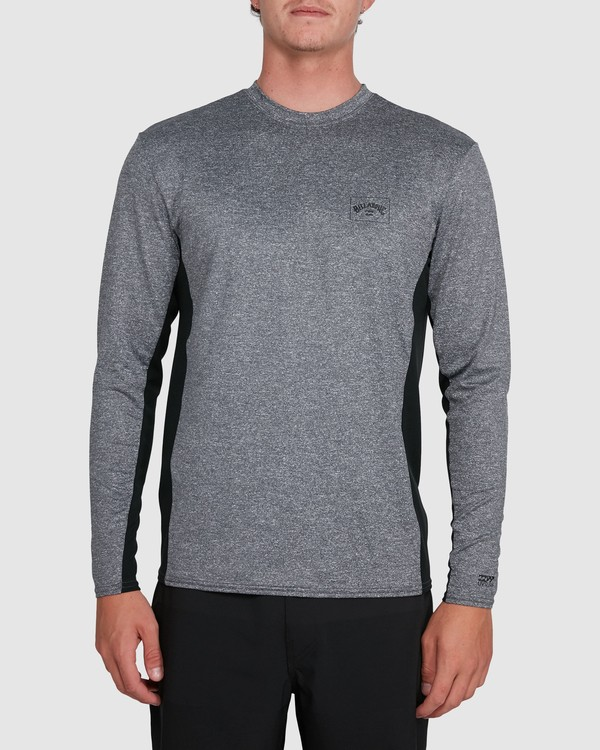 0 Banded Long Sleeve Surf Shirt Grey 9707520 Billabong
