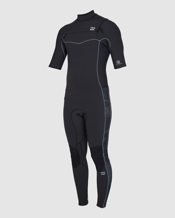 0 202 Revolution Pro Chest Zip Short Sleeve Fullsuit Black 9707902 Billabong