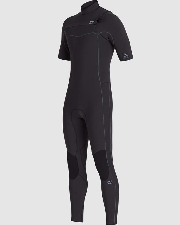 0 202 Revolution Pro Chest Zip Short Sleeve Fullsuit Black 9707902 Billabong