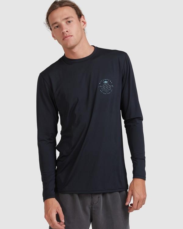 0 Wavey Davey Loose Fit Long Sleeve Rash Vest Black 9713010 Billabong