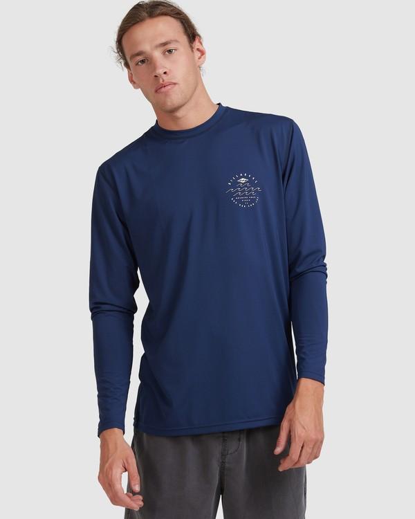 0 Wavey Davey Loose Fit Long Sleeve Rash Vest Blue 9713010 Billabong