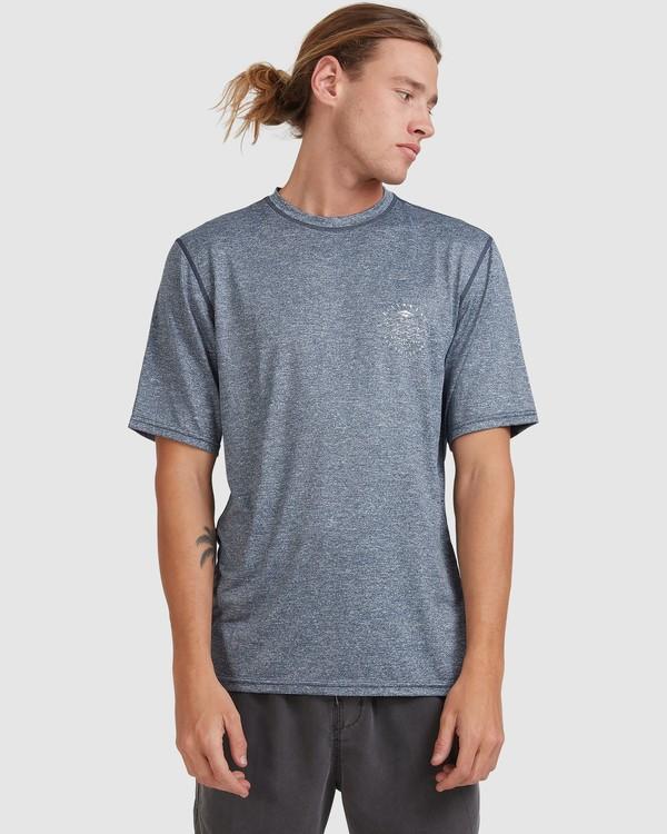 0 Wavey Davey Loose Fit Short Sleeve Rash Vest Blue 9713011 Billabong