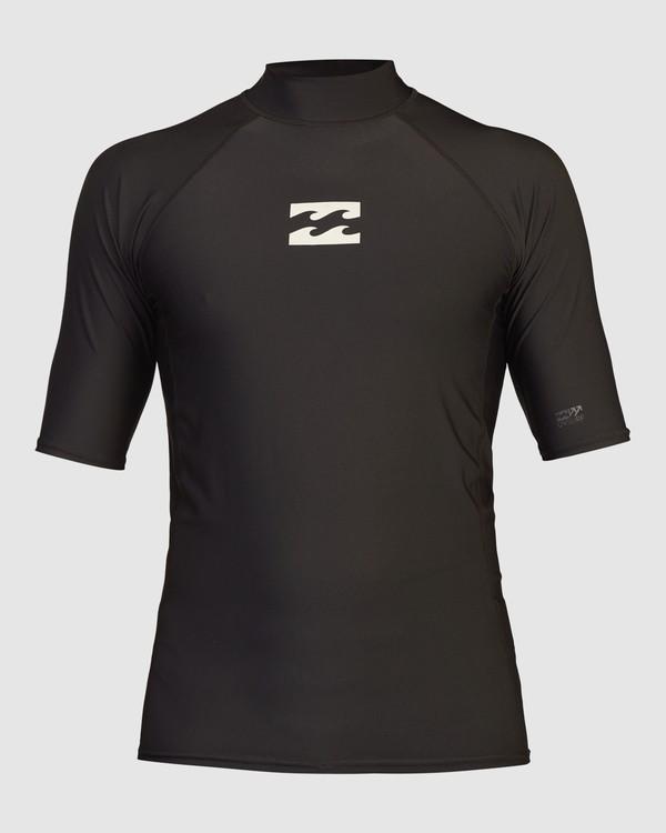 0 All Day Wave Performance Fit Short Sleeve Rashguard Black 9713015 Billabong