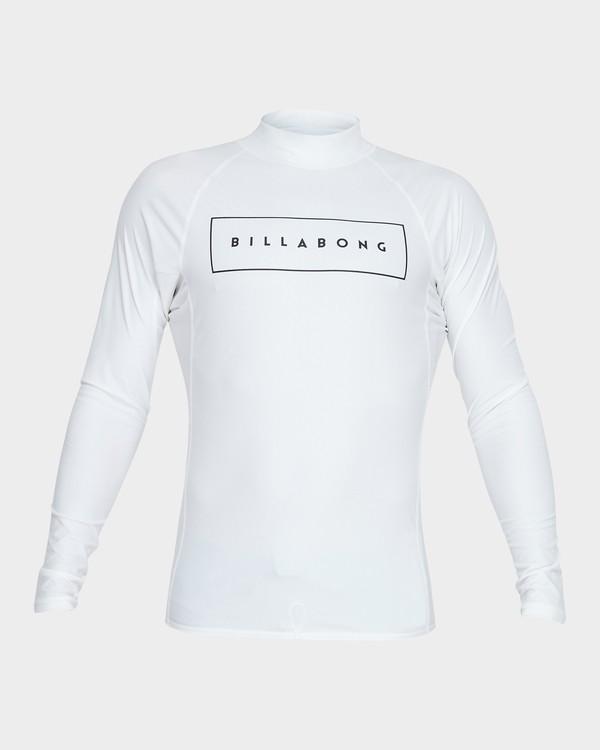 0 All Day United Performance Fit Rash Vest White 9781005 Billabong