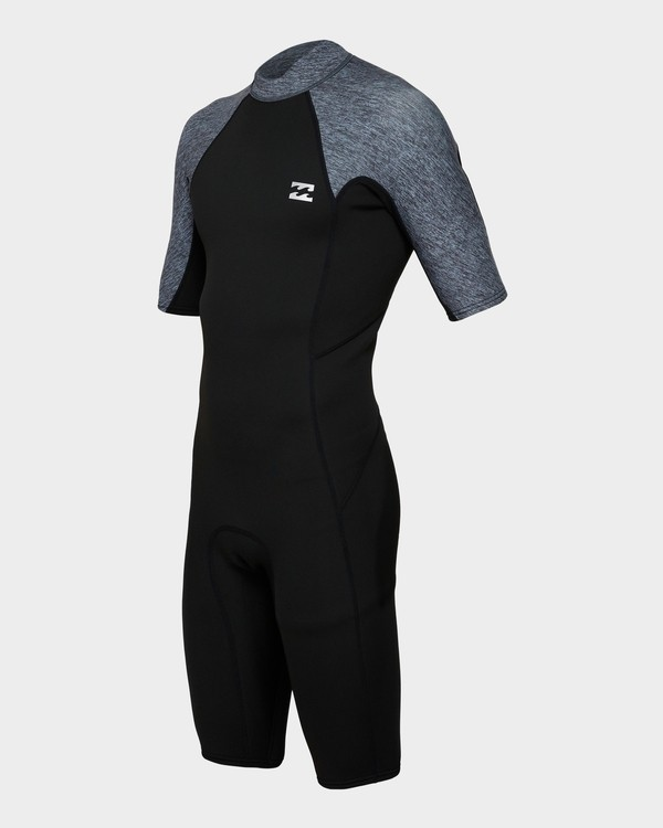 0 202 Absolute Fl Back Zip Short Sleeve Springsuit Grey 9791400 Billabong