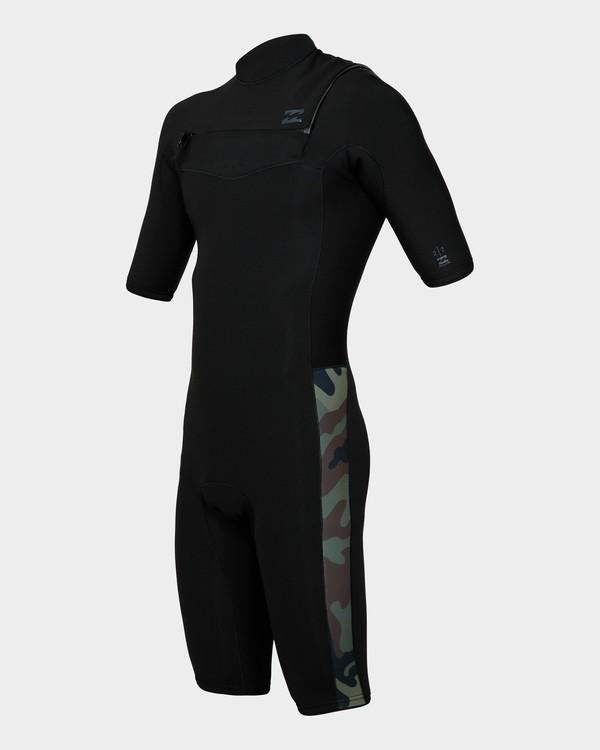 0 202 Revolution Chest Zip Short Sleeve Gbs Springsuit Camo 9791420 Billabong