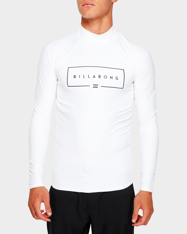 0 Union Long Sleeve Rash Vest White 9791502 Billabong