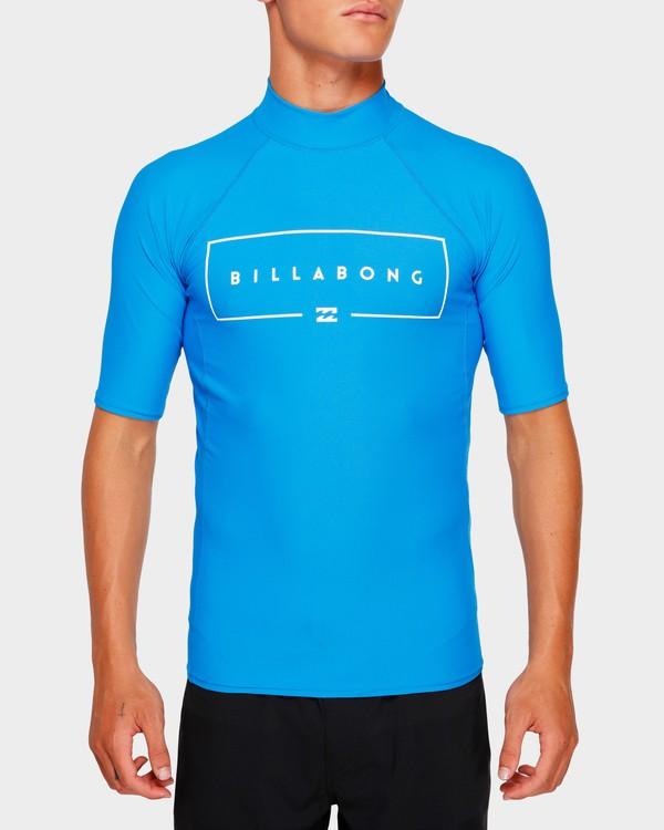 0 Union Rf Short Sleeve Rash Vest Blue 9791503 Billabong
