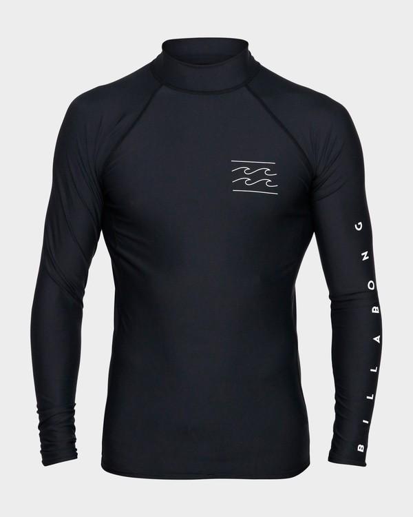 0 Unity Pf Long Sleeve Rash Vest Black 9791504 Billabong