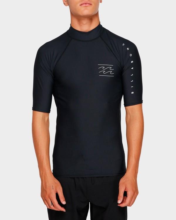 0 Unity Pf Short Sleeve Rash Vest Black 9791505 Billabong