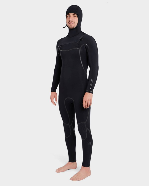 0 Furnace Carbon 504 Chest Zip Full Suit Black 9795896 Billabong