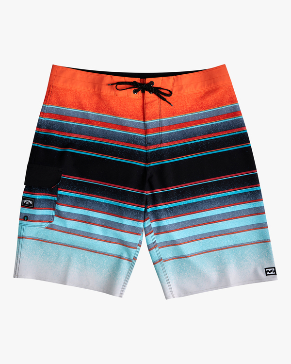 "0 Boys' All Day Stripe Pro Boardshorts 18"" Blue ABBBS00105 Billabong"