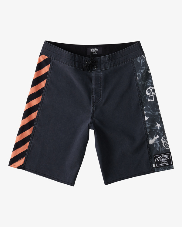 "0 Boy's Bad Billy D Bah Boardshort 17"" Black ABBBS00113 Billabong"