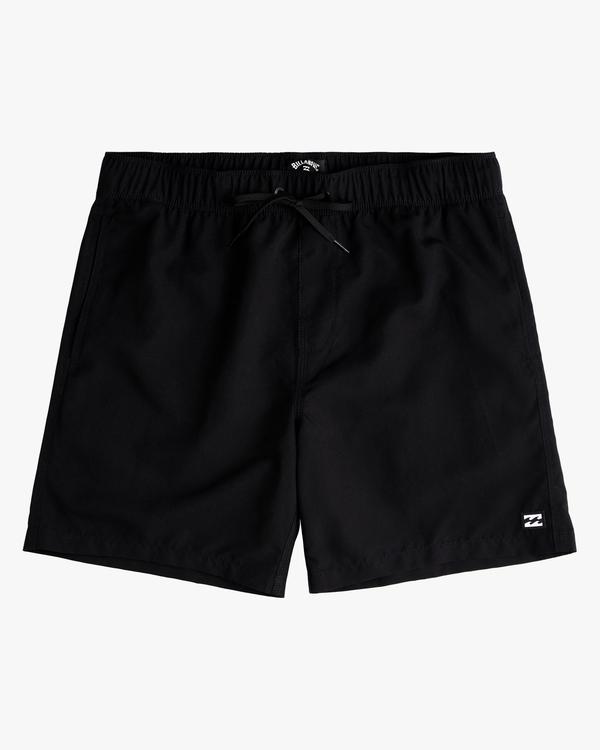 "0 Boy's All Day Layback Boardshorts 17"" Black ABBBS00119 Billabong"