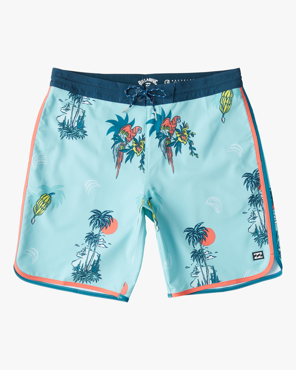 "0 Boys' 73 Lo Tide Boardshort 18"" Blue ABBBS00124 Billabong"