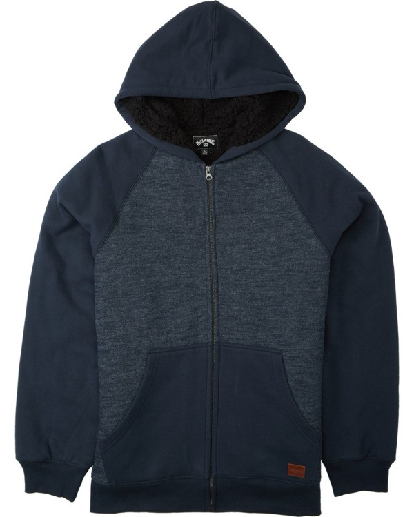 0 Boys' Balance Sherpa Zip Hoodie Blue ABBFT00105 Billabong