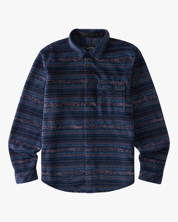 0 Boys' Furnace Flannel Shirt Blue ABBFT00112 Billabong