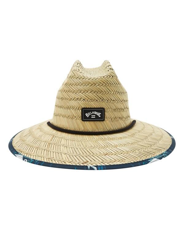 0 Boys' Tides Print Straw Lifeguard Hat Blue ABBHA00120 Billabong