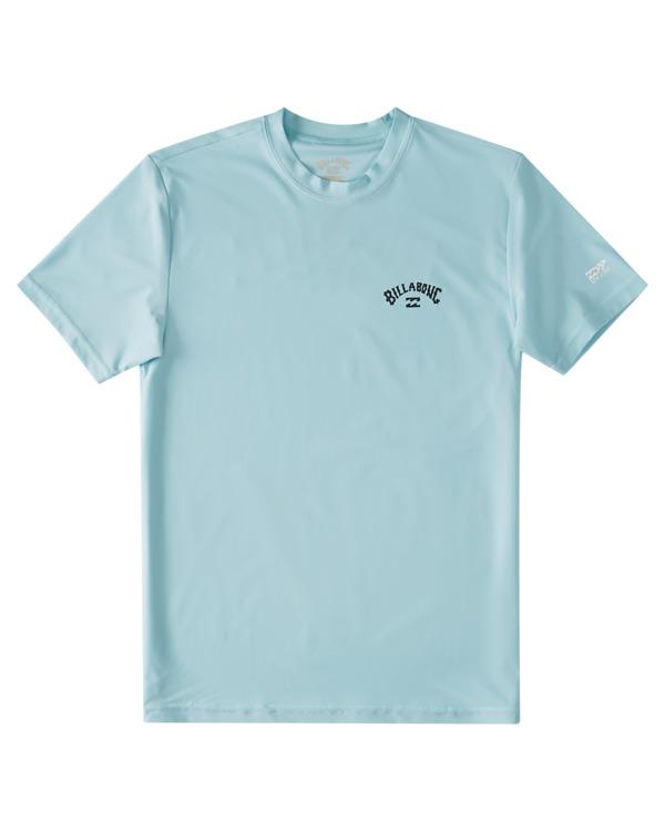 0 Boys' Arch Wave Loose Fit Short Sleeve Rashguard Brown ABBWR00102 Billabong