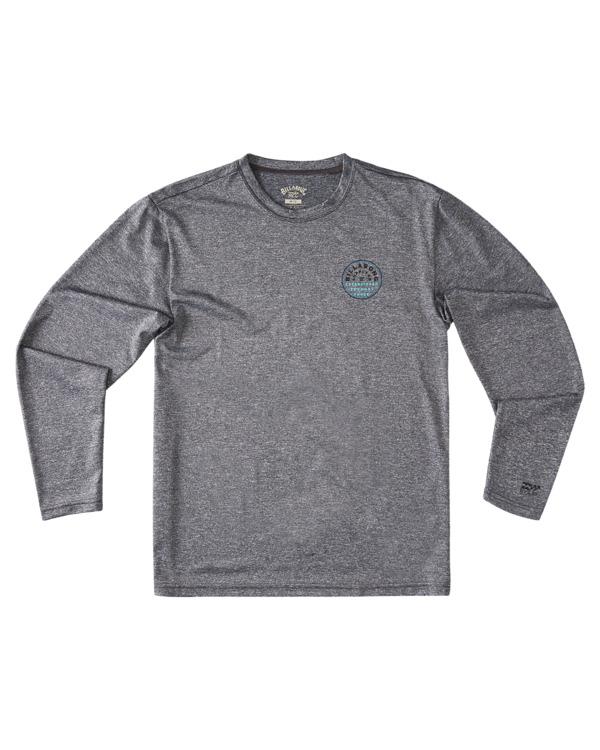 0 Boys' Roto Loose Fit Long Sleeve Rashguard Grey ABBWR00106 Billabong