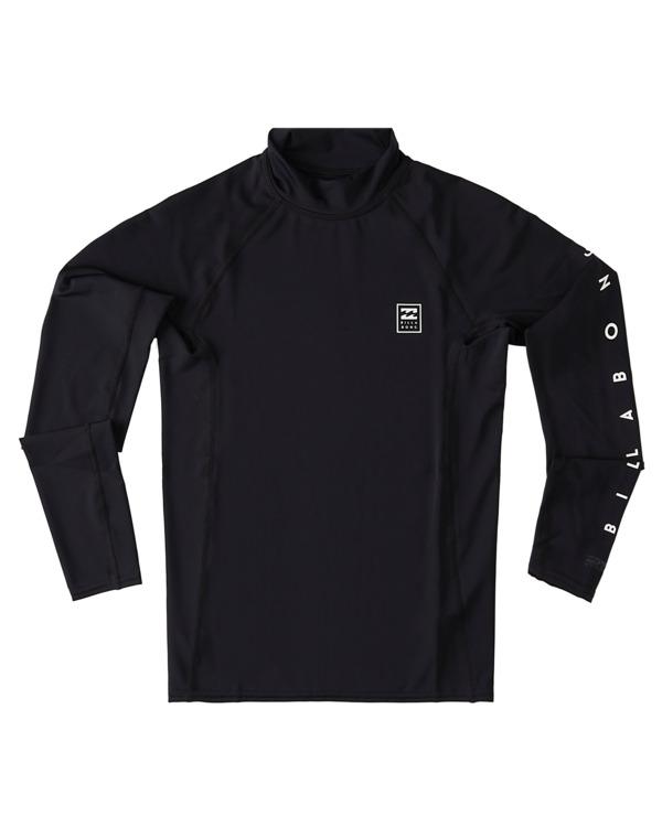0 Boys' Unity Performance Fit Long Sleeve Rashguard Black ABBWR00109 Billabong