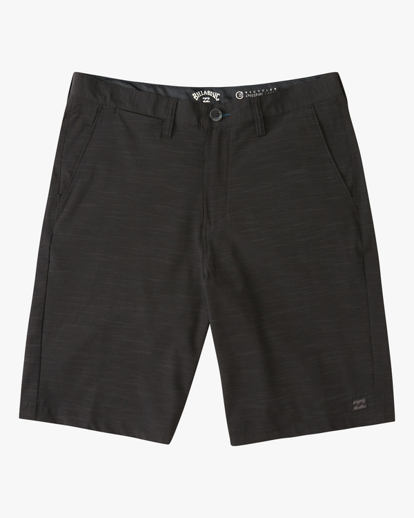 0 Boys' Crossfire Slub Shorts Black ABBWS00101 Billabong