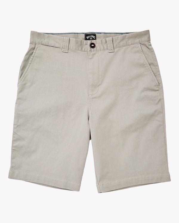 0 Boys' Carter Stretch Shorts Grey ABBWS00107 Billabong