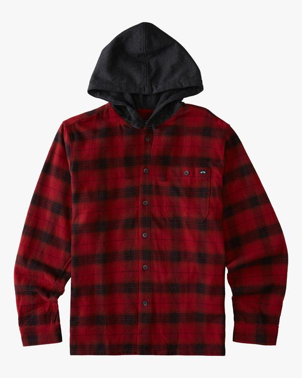 0 Boy's Baja Flannel Shirt Red ABBWT00102 Billabong
