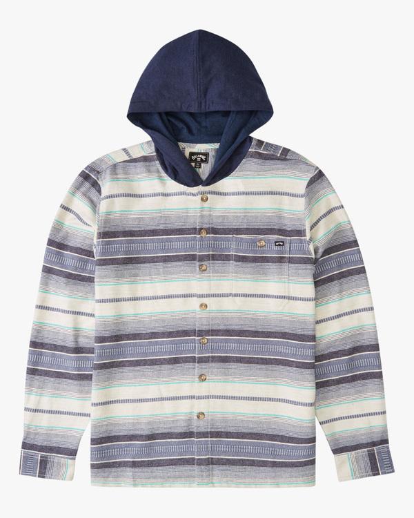 0 Boy's Baja Flannel Shirt Beige ABBWT00102 Billabong