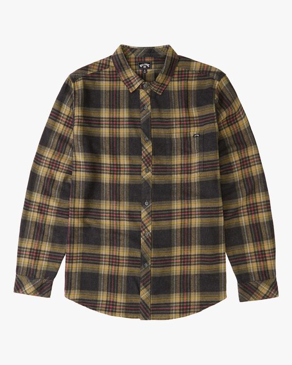 0 Boys' Coastline Flannel Shirt Black ABBWT00103 Billabong