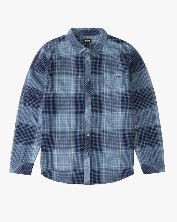 0 Boys' Coastline Flannel Shirt Blue ABBWT00103 Billabong