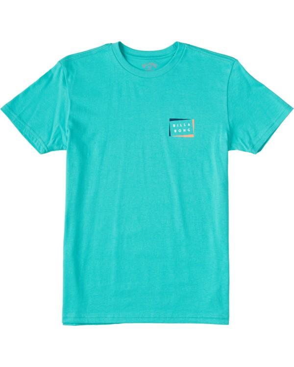 0 Boys' Diecut Short Sleeve T-Shirt Grey ABBZT00103 Billabong