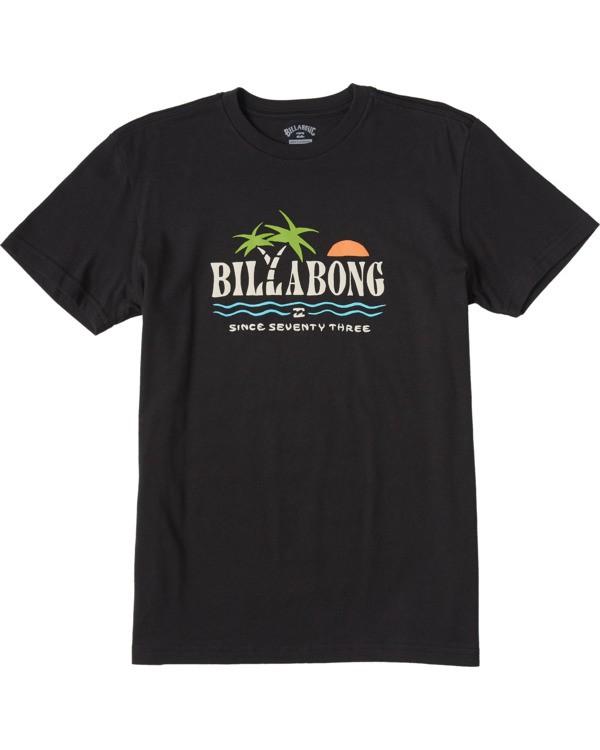 0 Boys' Dos Palmas Short Sleeve T-Shirt Black ABBZT00107 Billabong