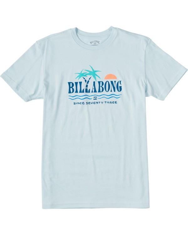 0 Boys' Dos Palmas Short Sleeve T-Shirt Blue ABBZT00107 Billabong