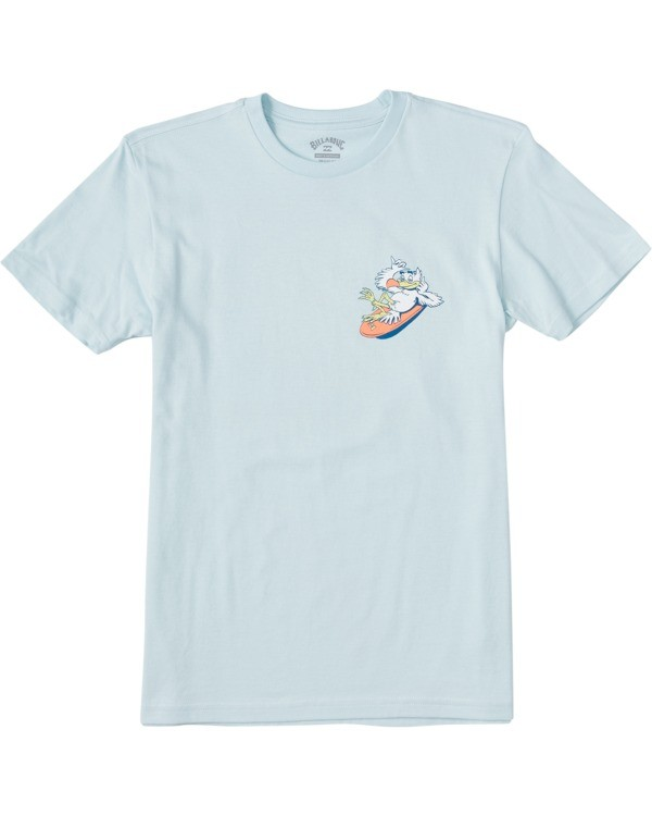 0 Boys' Loose Short Sleeve T-Shirt Blue ABBZT00109 Billabong