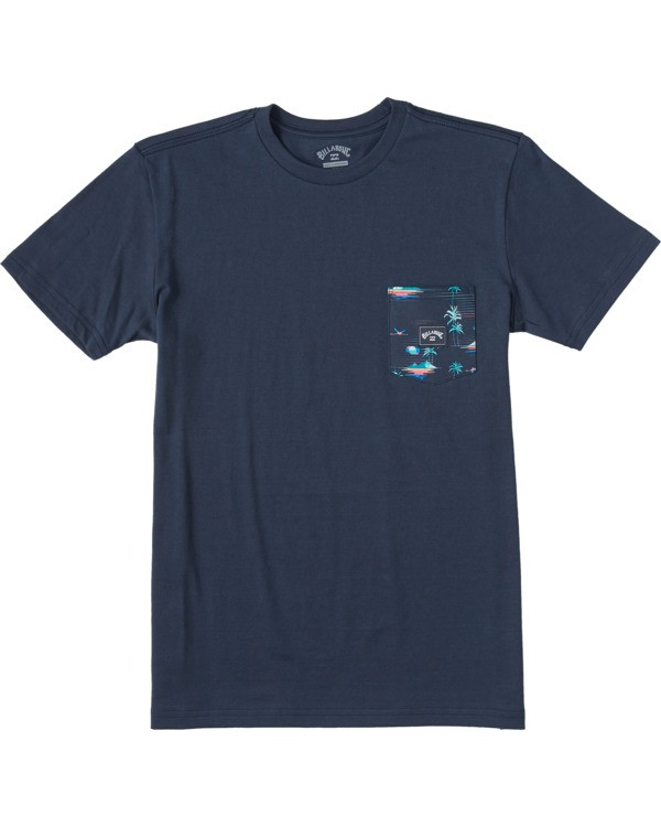 0 Boys' Team Pocket T-Shirt Blue ABBZT00111 Billabong